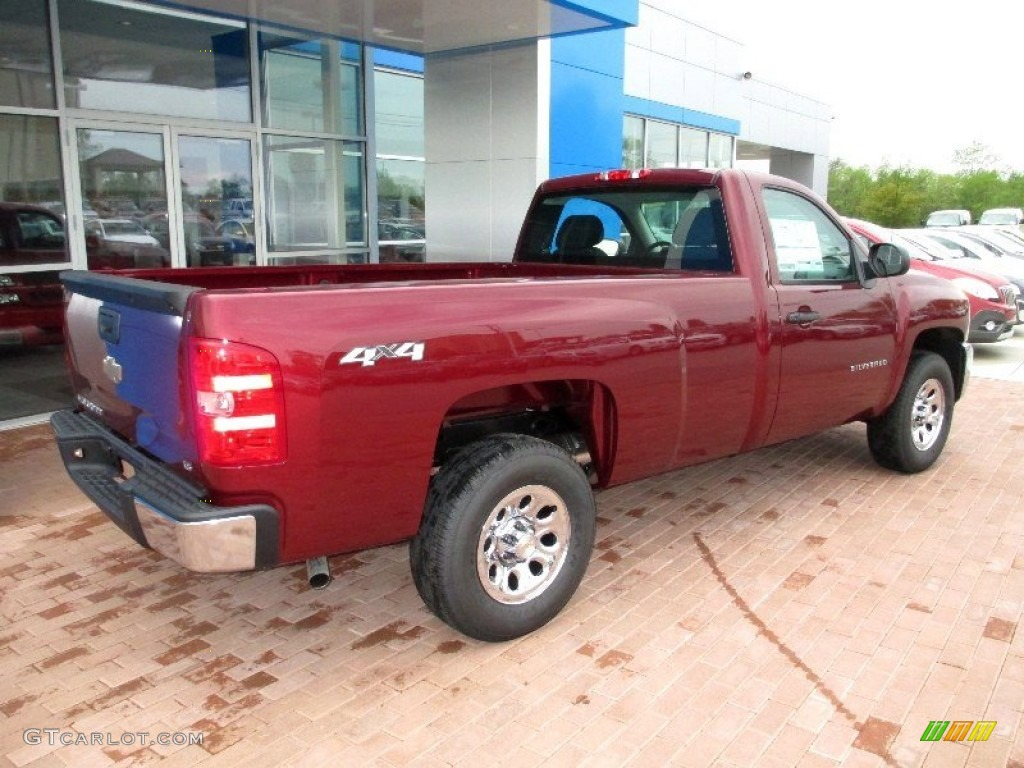 2013 Silverado 1500 Work Truck Regular Cab 4x4 - Deep Ruby Metallic / Dark Titanium photo #11