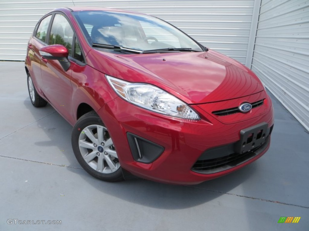 2013 Fiesta SE Hatchback - Ruby Red / Charcoal Black photo #1