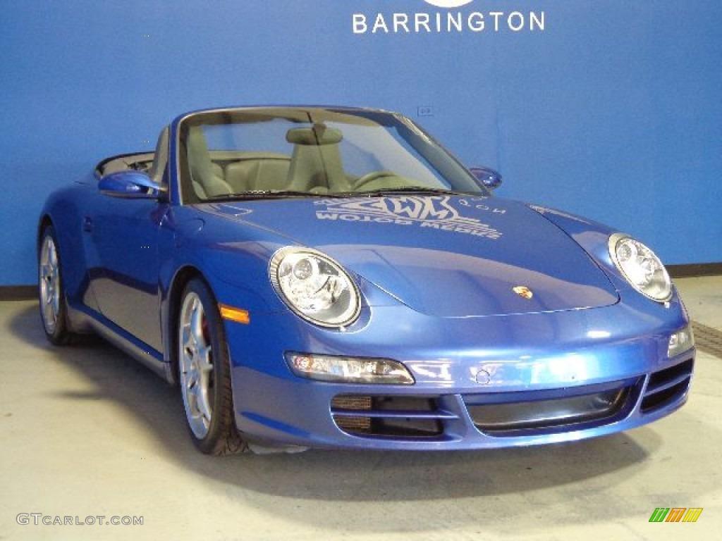 2006 911 Carrera S Cabriolet - Cobalt Blue Metallic / Stone Grey photo #1