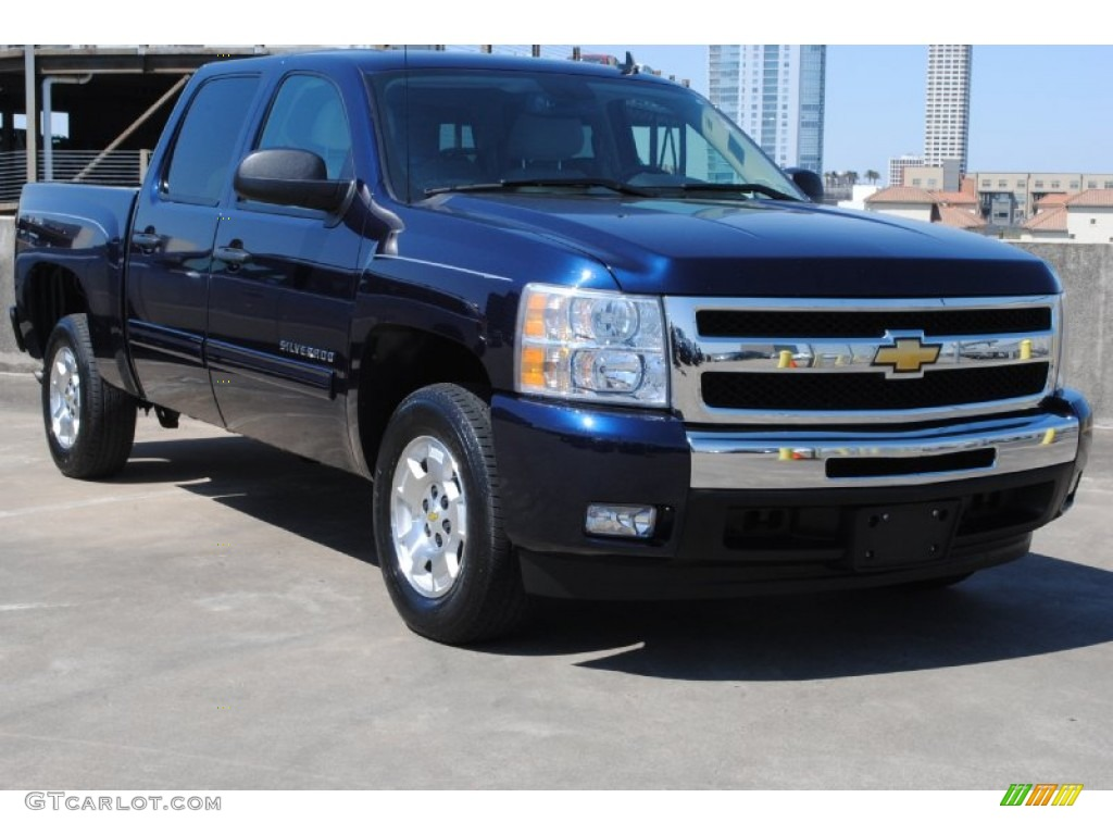 2011 Silverado 1500 LT Crew Cab - Imperial Blue Metallic / Light Titanium/Ebony photo #1