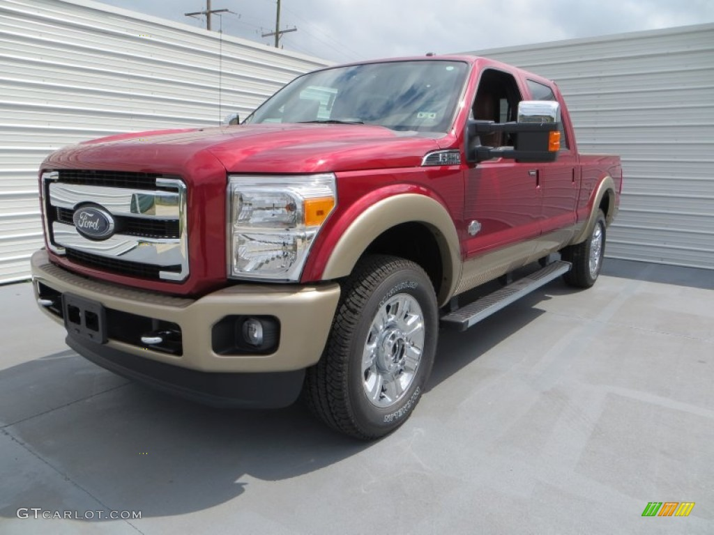 2013 Ruby Red Metallic Ford F250 Super Duty King Ranch Crew Cab 4x4 81127788 Photo 7