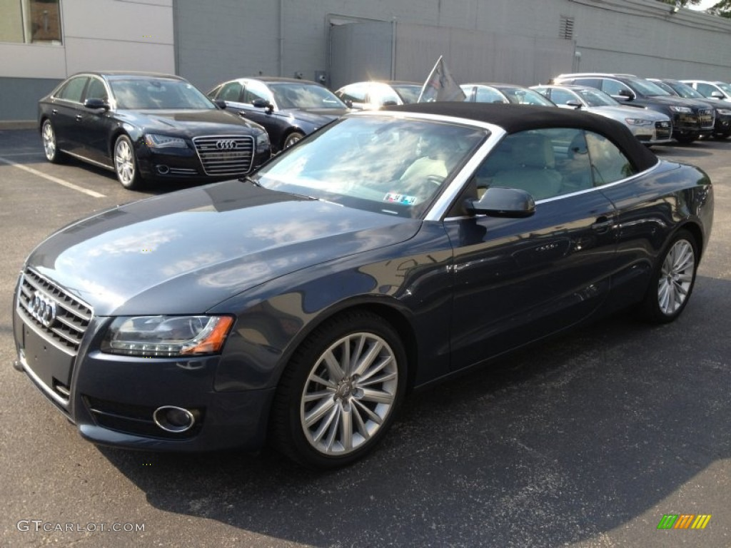 2010 a5 2 0t quattro cabriolet meteor gray pearl effect light gray photo