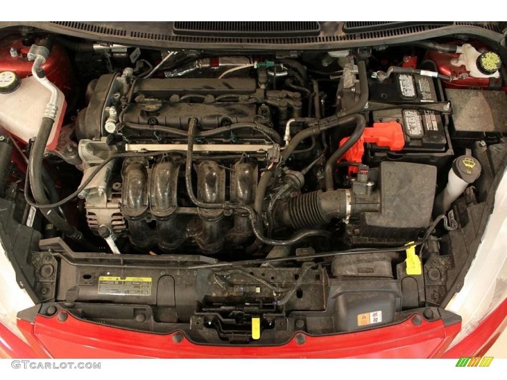 2012 ford fiesta ses hatchback 1 6 liter dohc 16 valve ti vct duratec 4 cylinder engine photo. Black Bedroom Furniture Sets. Home Design Ideas