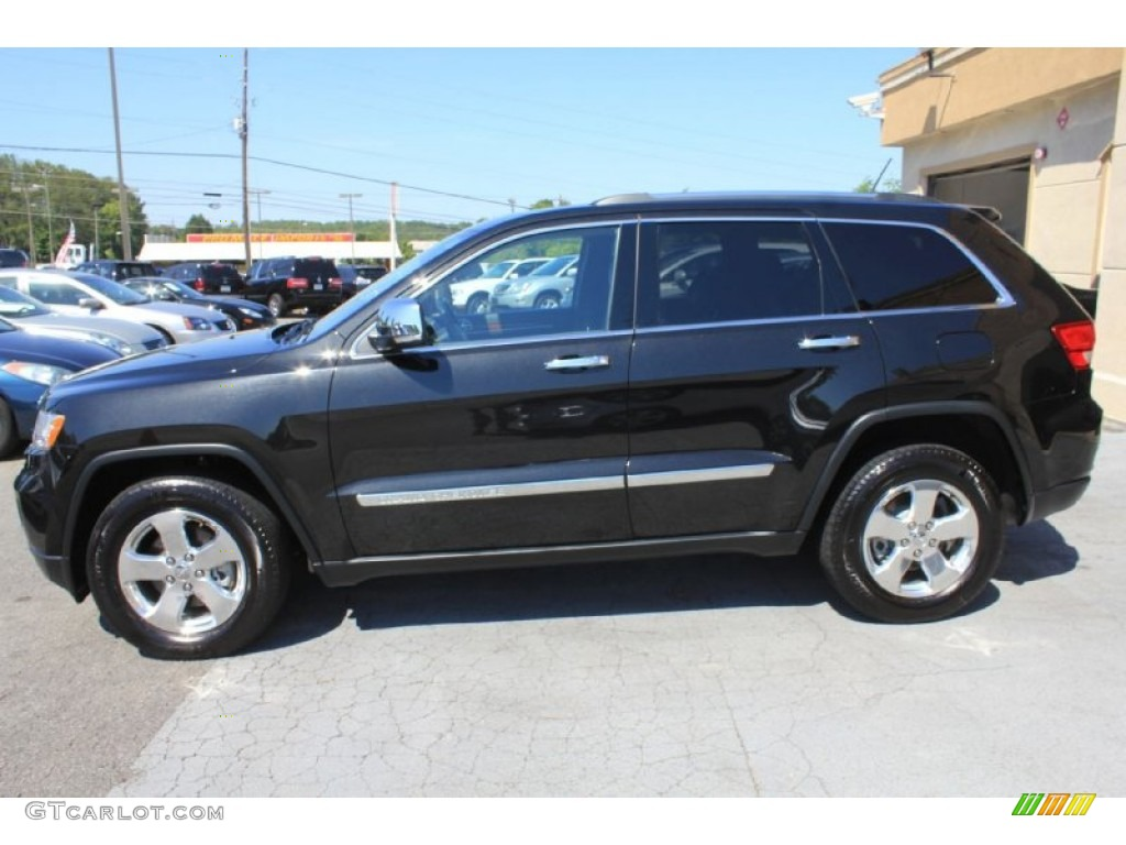 Brilliant Black Crystal Pearl 2012 Jeep Grand Cherokee Limited 4x4 Exterior Photo 81149094