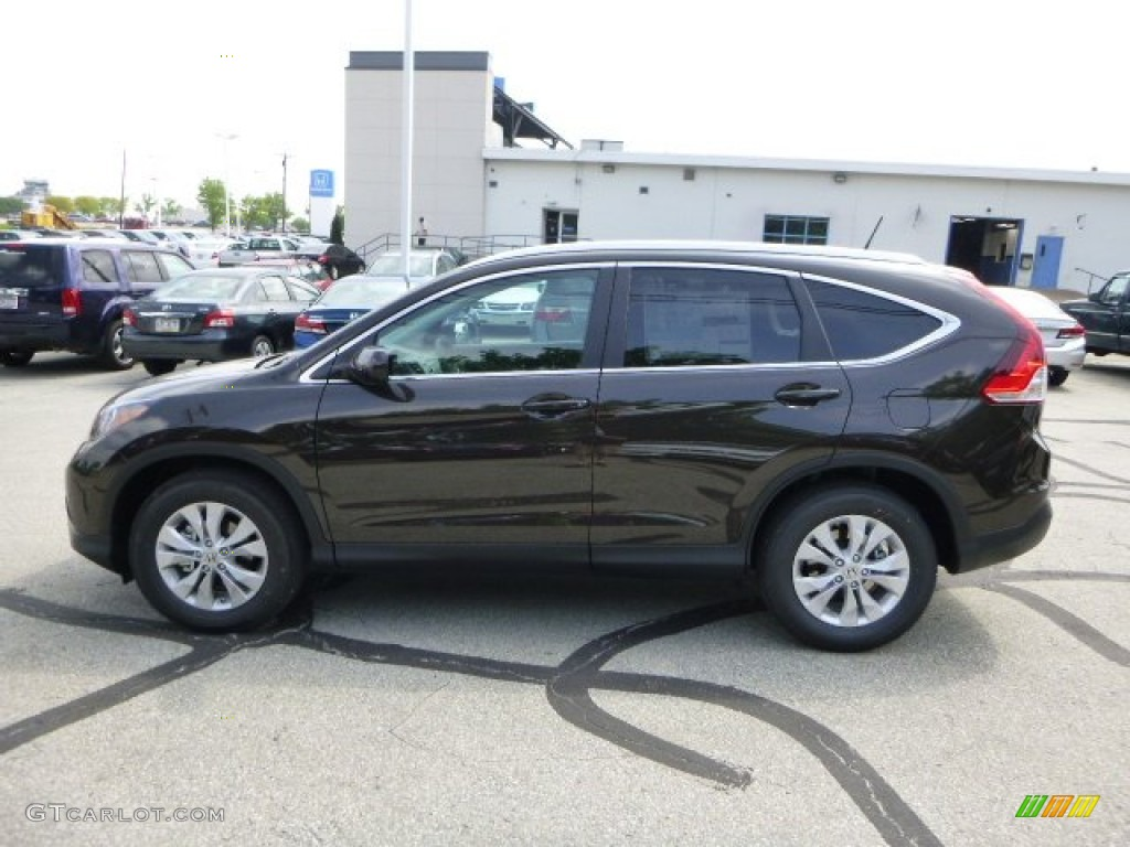 2013 CR-V EX-L AWD - Kona Coffee Metallic / Black photo #6