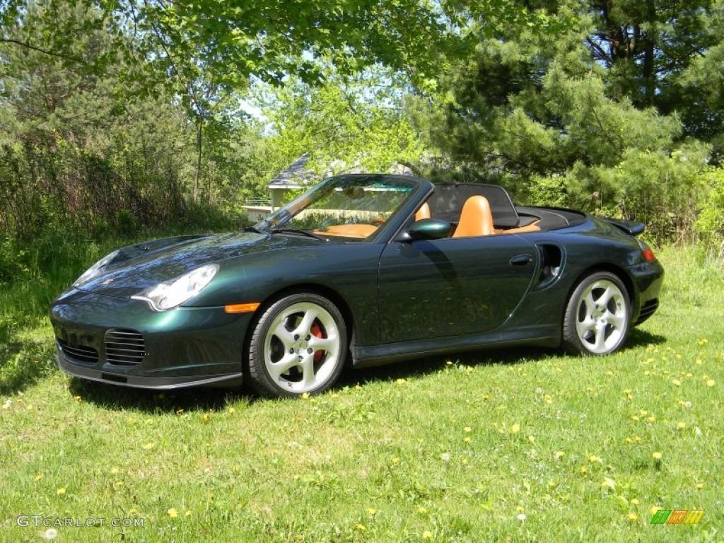 c28ae61b942563 2004 Forest Green Metallic Porsche 911 Turbo Cabriolet  81171136 ...