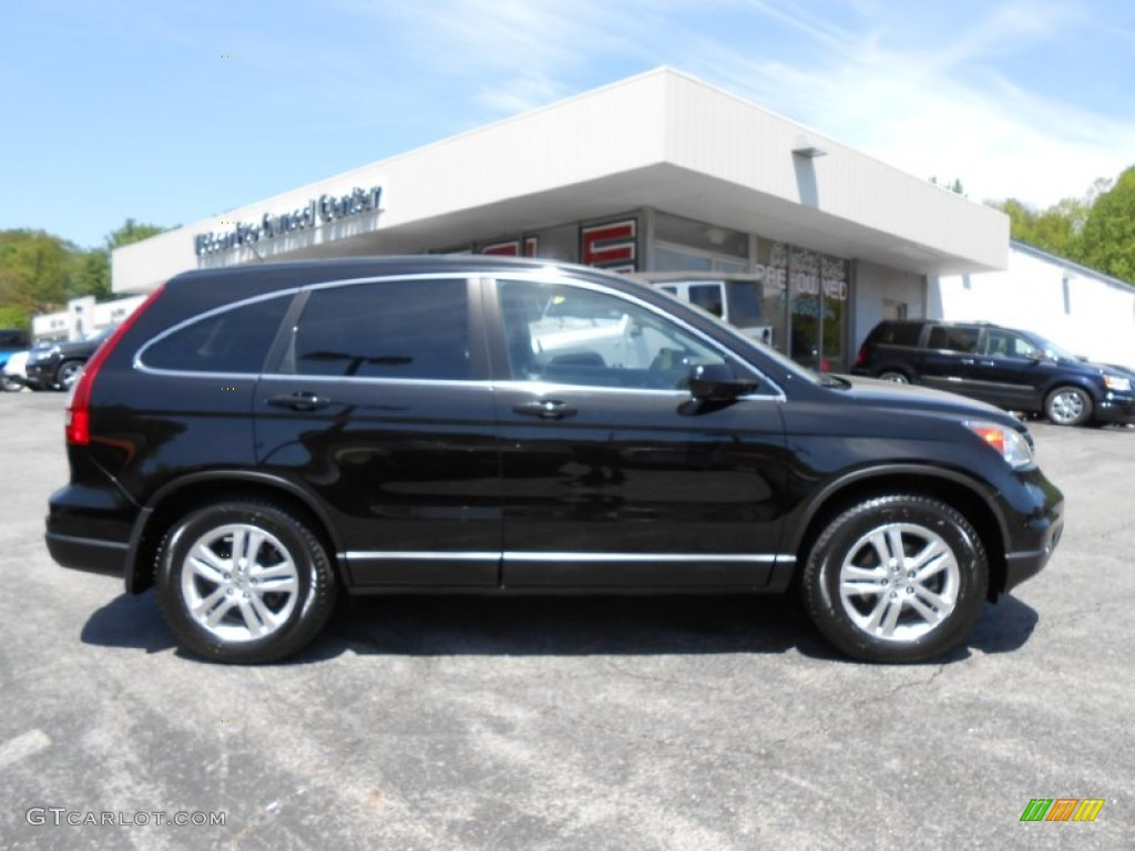 2010 CR-V EX-L AWD - Crystal Black Pearl / Black photo #8
