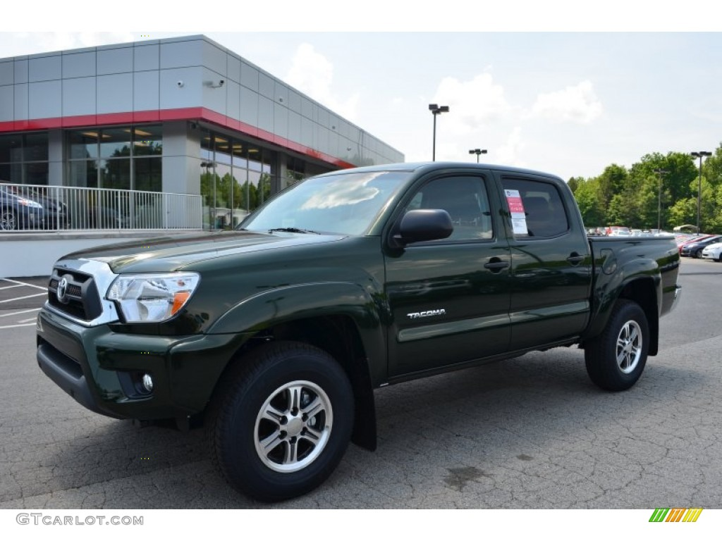 2013 toyota tacoma v6 sr5 prerunner double cab spruce green mica dark brown hairs