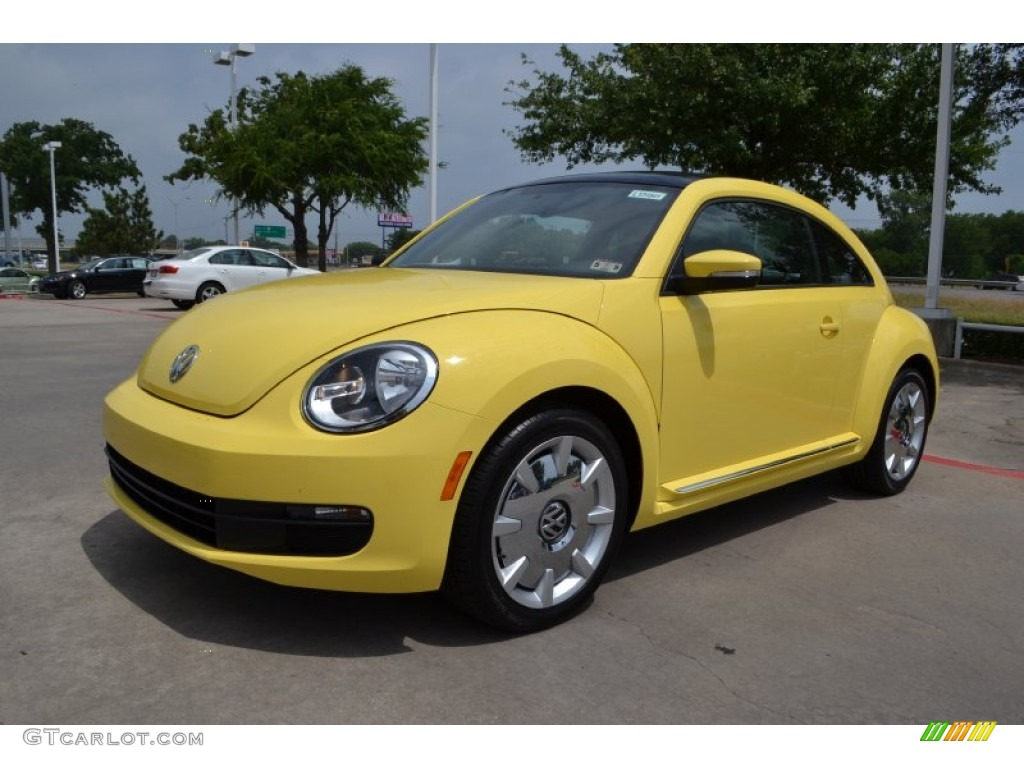 yellow rush 2013 volkswagen beetle 2 5l exterior photo. Black Bedroom Furniture Sets. Home Design Ideas