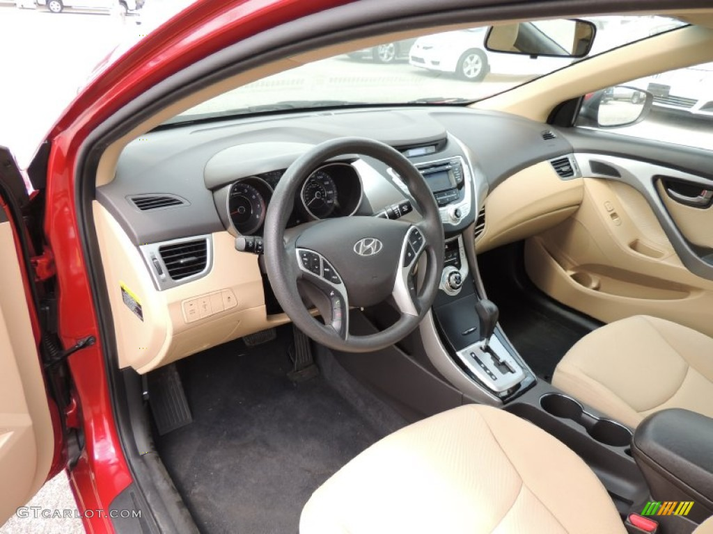 2012 Hyundai Elantra Gls Interior Photos