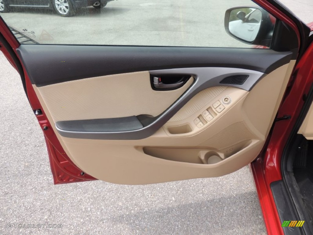 2012 Hyundai Elantra Gls Beige Door Panel Photo 81201576