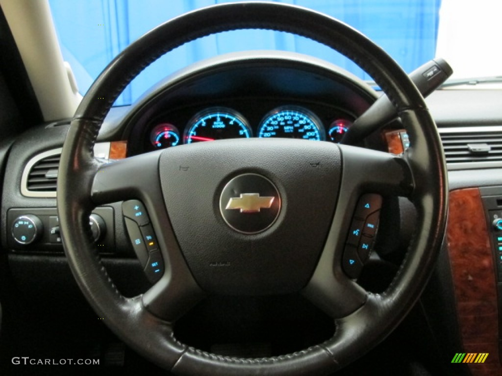 2007 chevrolet tahoe ltz 4x4 ebony steering wheel photo. Black Bedroom Furniture Sets. Home Design Ideas