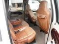 2006 Ford F250 Super Duty Castano Brown Leather Interior Rear Seat Photo