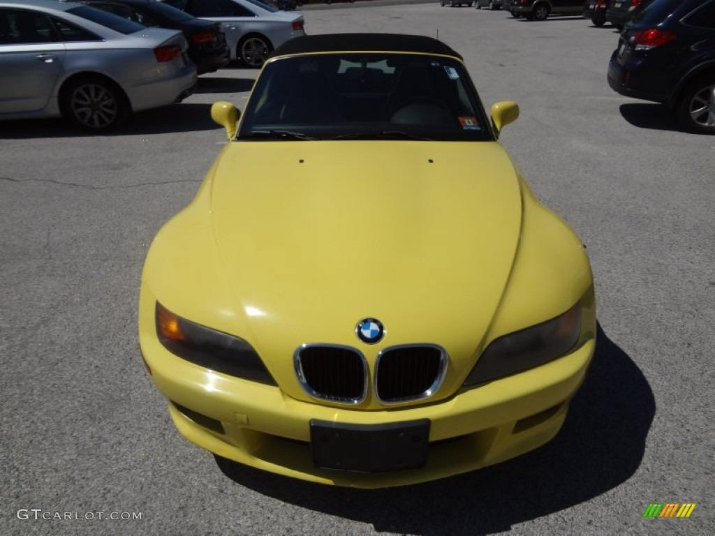 Dakar Yellow 1998 Bmw Z3 2 8 Roadster Exterior Photo