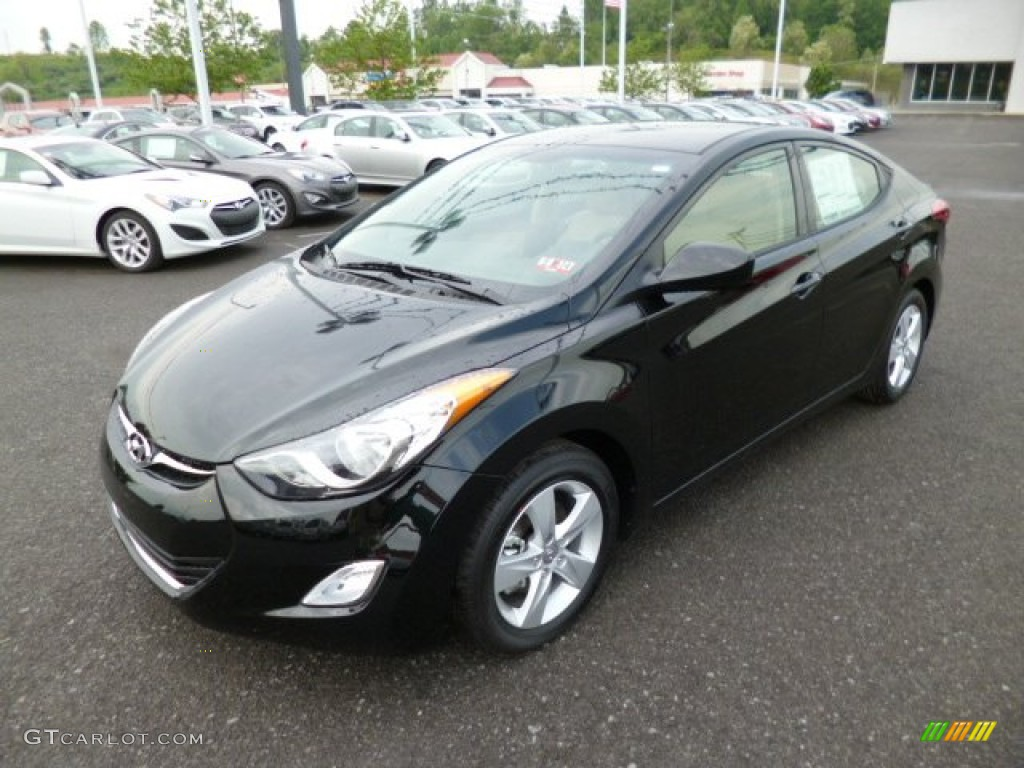 Midnight Black 2013 Hyundai Elantra Gls Exterior Photo