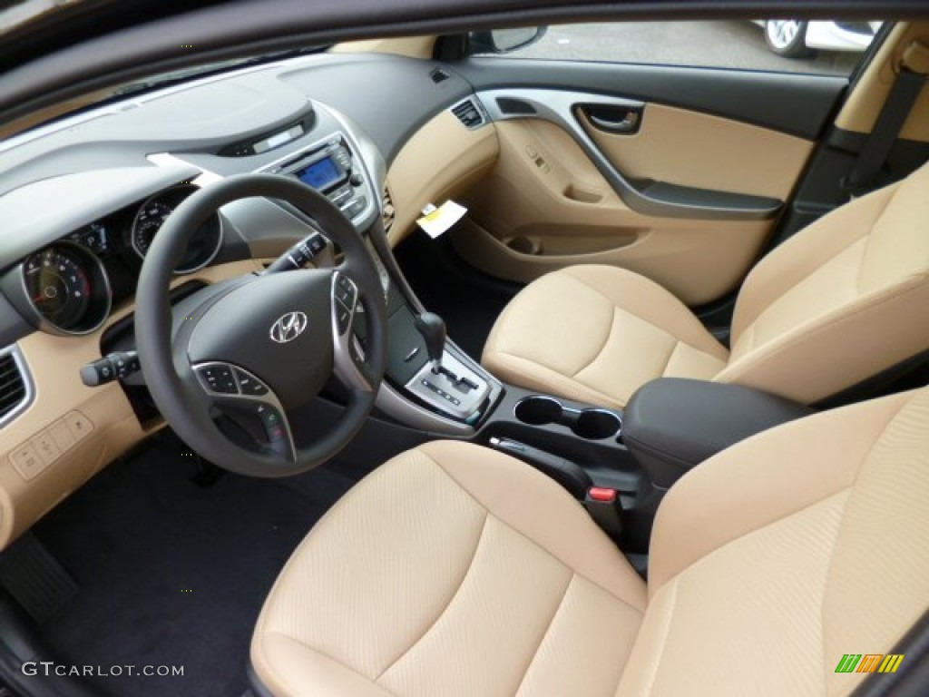 Beige Interior 2013 Hyundai Elantra Gls Photo 81222429
