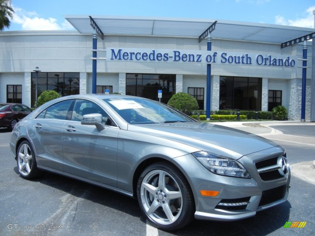 2014 palladium silver metallic mercedes benz cls 550 coupe for Mercedes benz silver