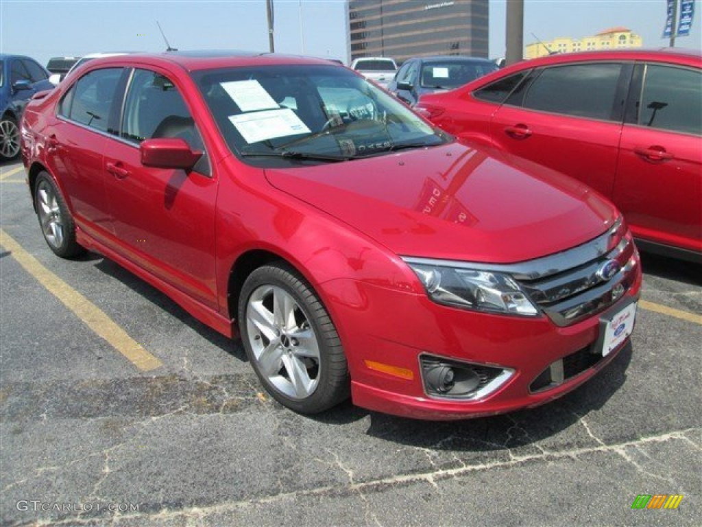 2011 Fusion Sport AWD - Red Candy Metallic / Sport Black/Charcoal Black photo #1