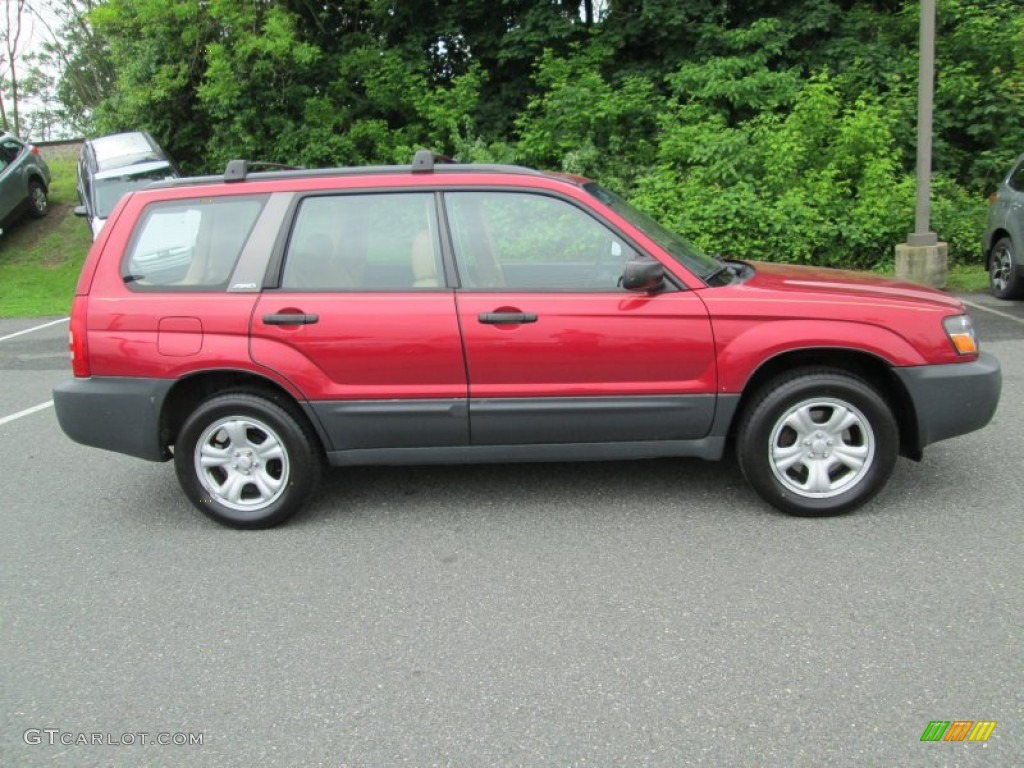 Cayenne Red Pearl 2004 Subaru Forester 2.5 X Exterior Photo #81256757 ...