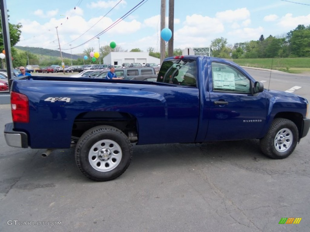 2013 Silverado 1500 Work Truck Regular Cab 4x4 - Blue Topaz Metallic / Dark Titanium photo #1