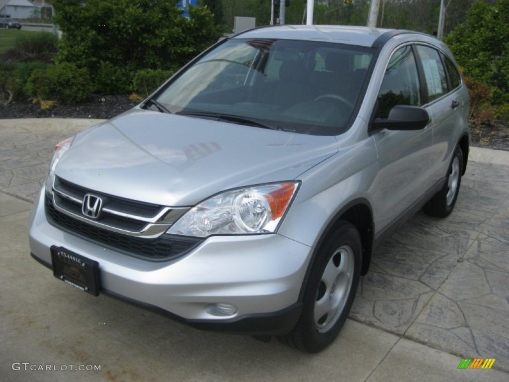 2010 CR-V LX - Alabaster Silver Metallic / Black photo #1