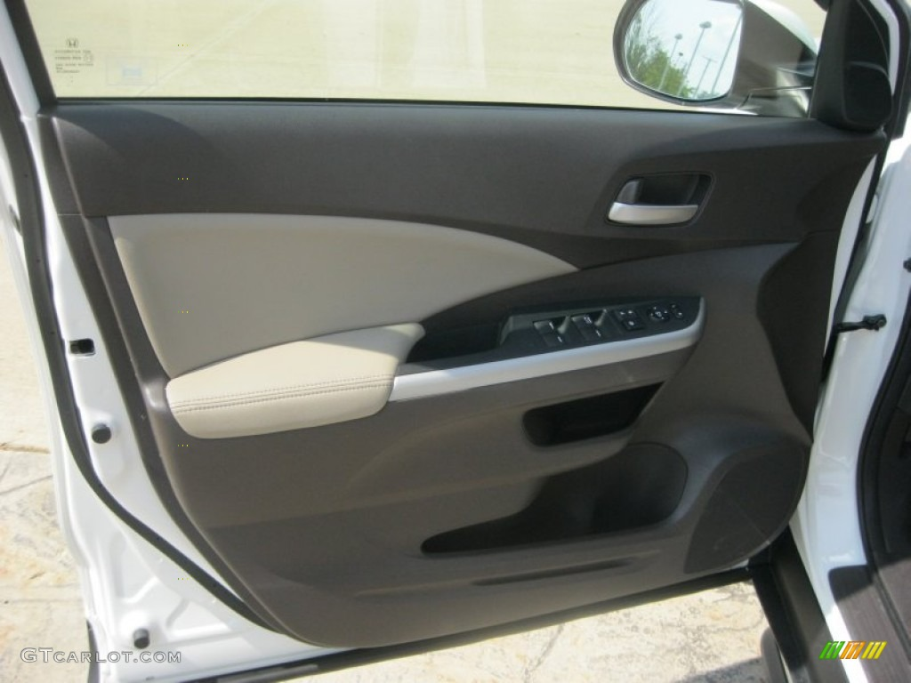2012 Honda CR-V EX-L 4WD Beige Door Panel Photo #81261001