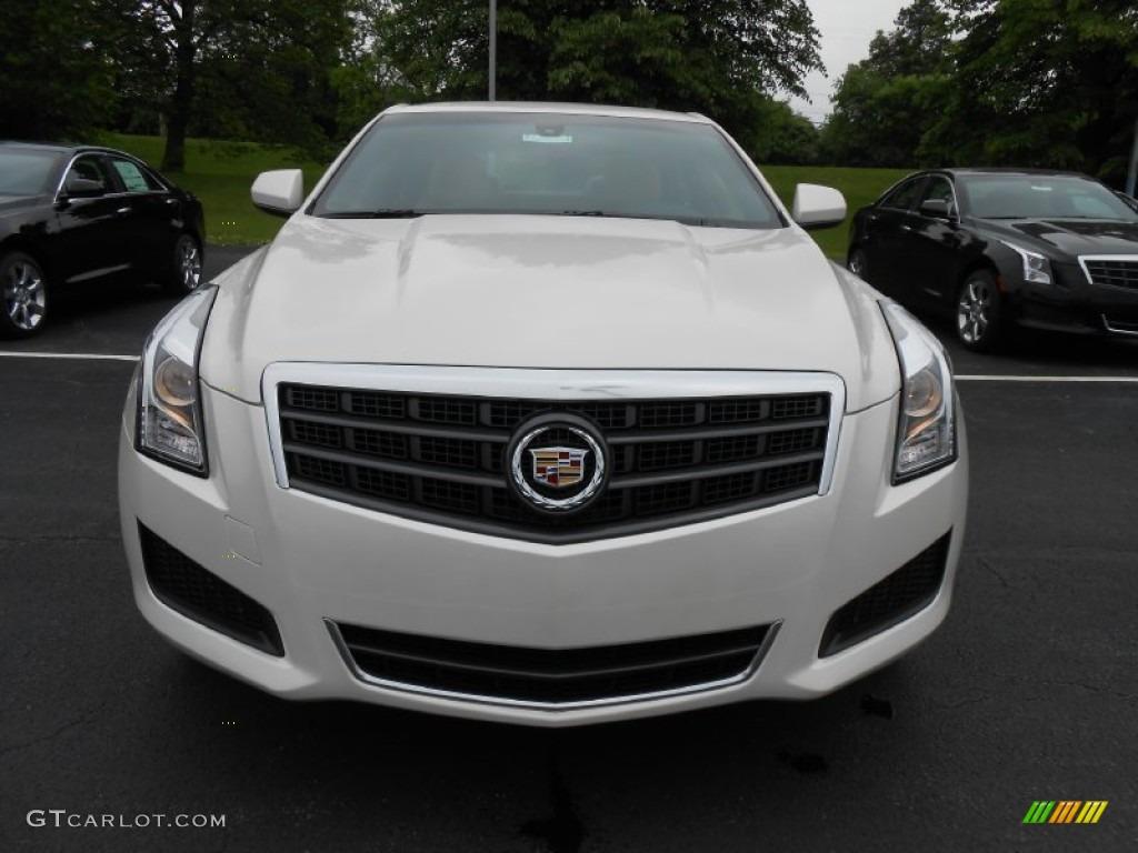 White Diamond Tricoat 2013 Cadillac Ats 2 0l Turbo Awd Exterior Photo 81276586