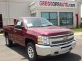 2013 Deep Ruby Metallic Chevrolet Silverado 1500 LS Regular Cab 4x4  photo #1