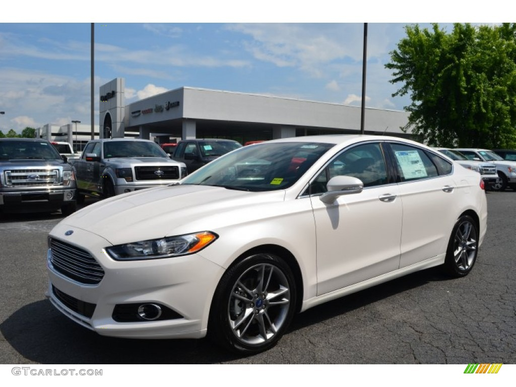 White Platinum Metallic Tri Coat 2013 Ford Fusion Titanium Exterior Photo 81285697