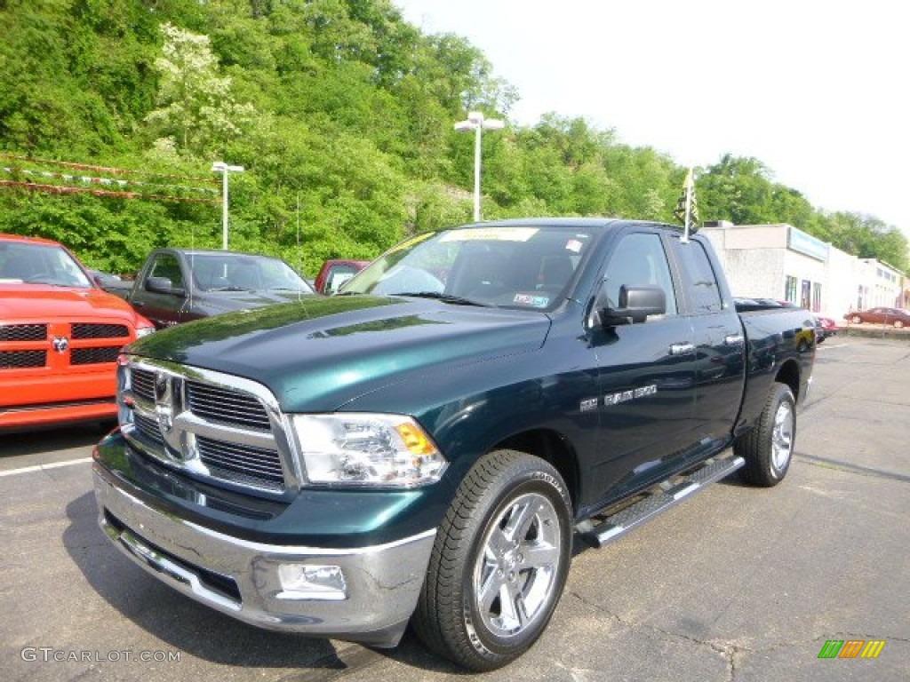 Hunter green pearl 2011 dodge ram 1500 big horn quad cab 4x4 exterior photo 81318139
