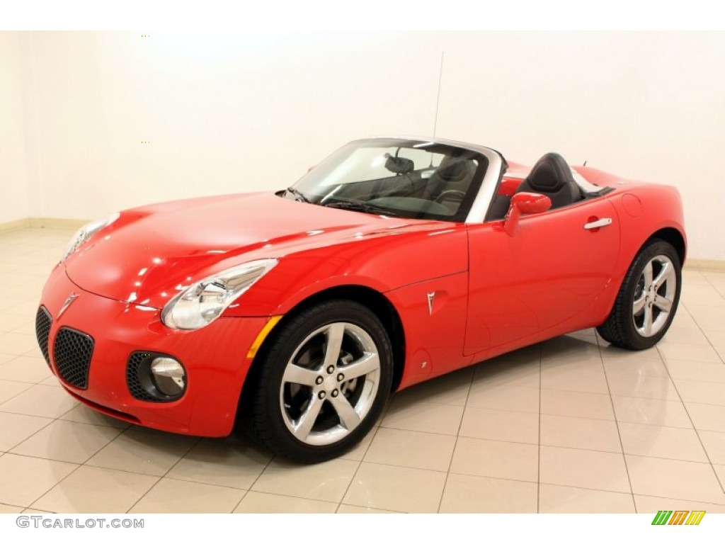 aggressive red 2008 pontiac solstice gxp roadster exterior. Black Bedroom Furniture Sets. Home Design Ideas