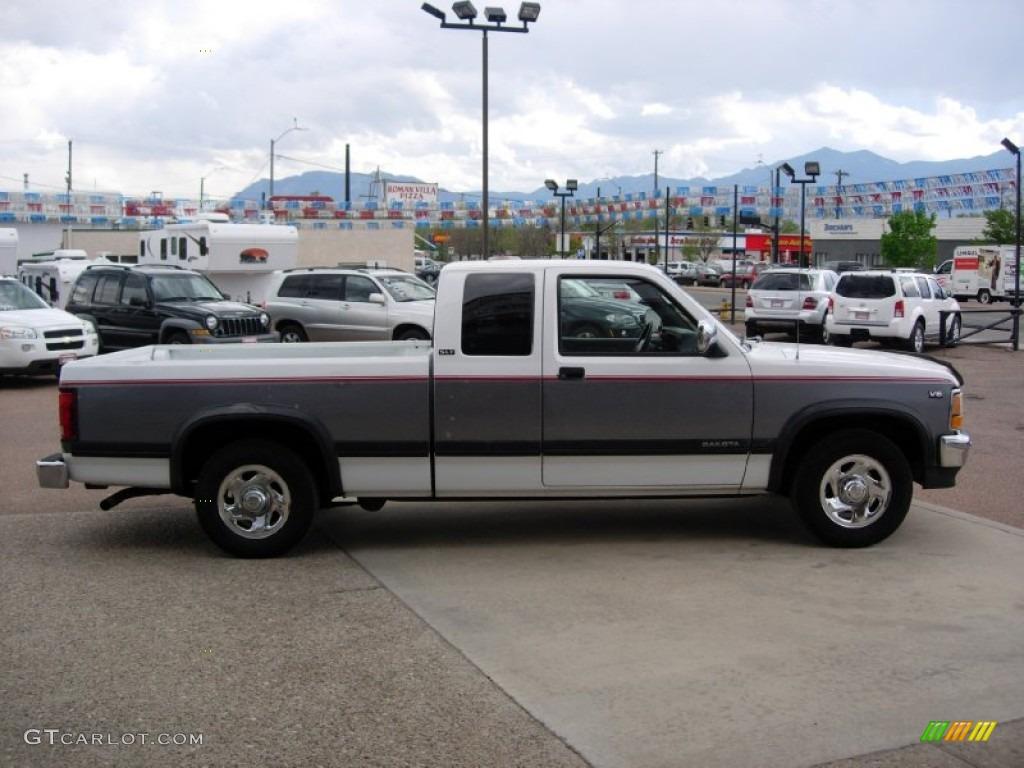 on 1991 Dodge Dakota White