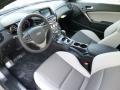 Gray Leather/Gray Cloth 2013 Hyundai Genesis Coupe Interiors