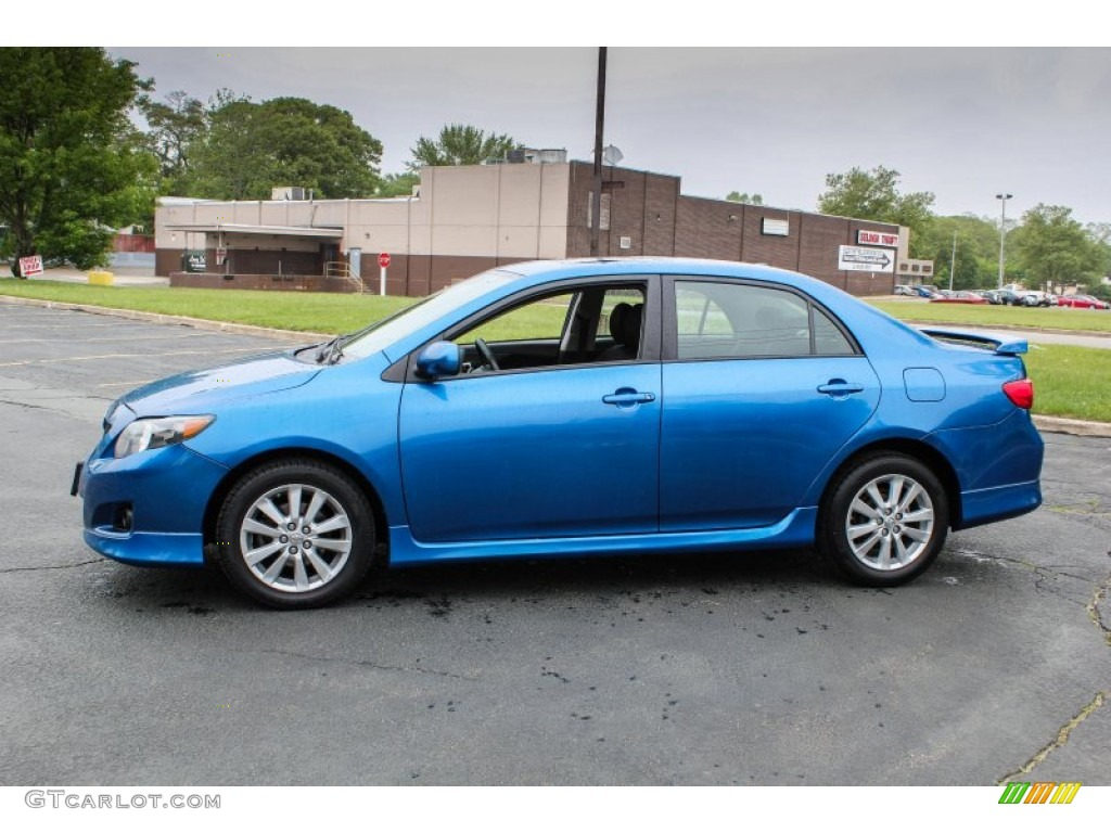 blue streak metallic 2009 toyota corolla s exterior photo