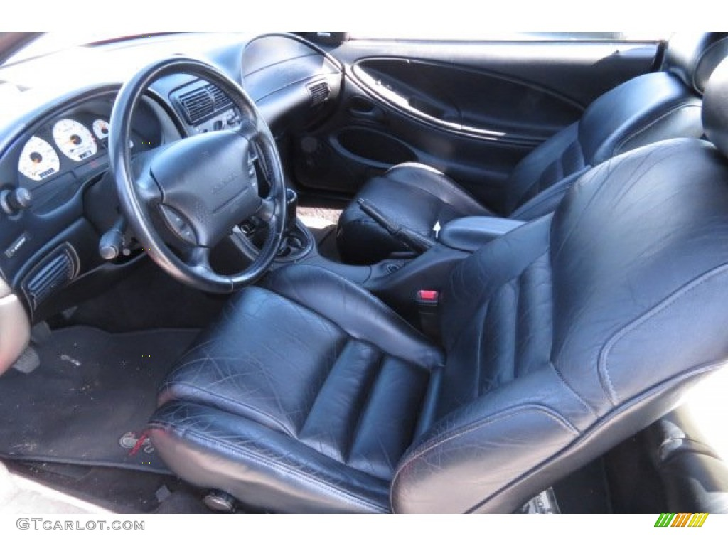 Black Interior 1996 Ford Mustang Svt Cobra Coupe Photo 81350628