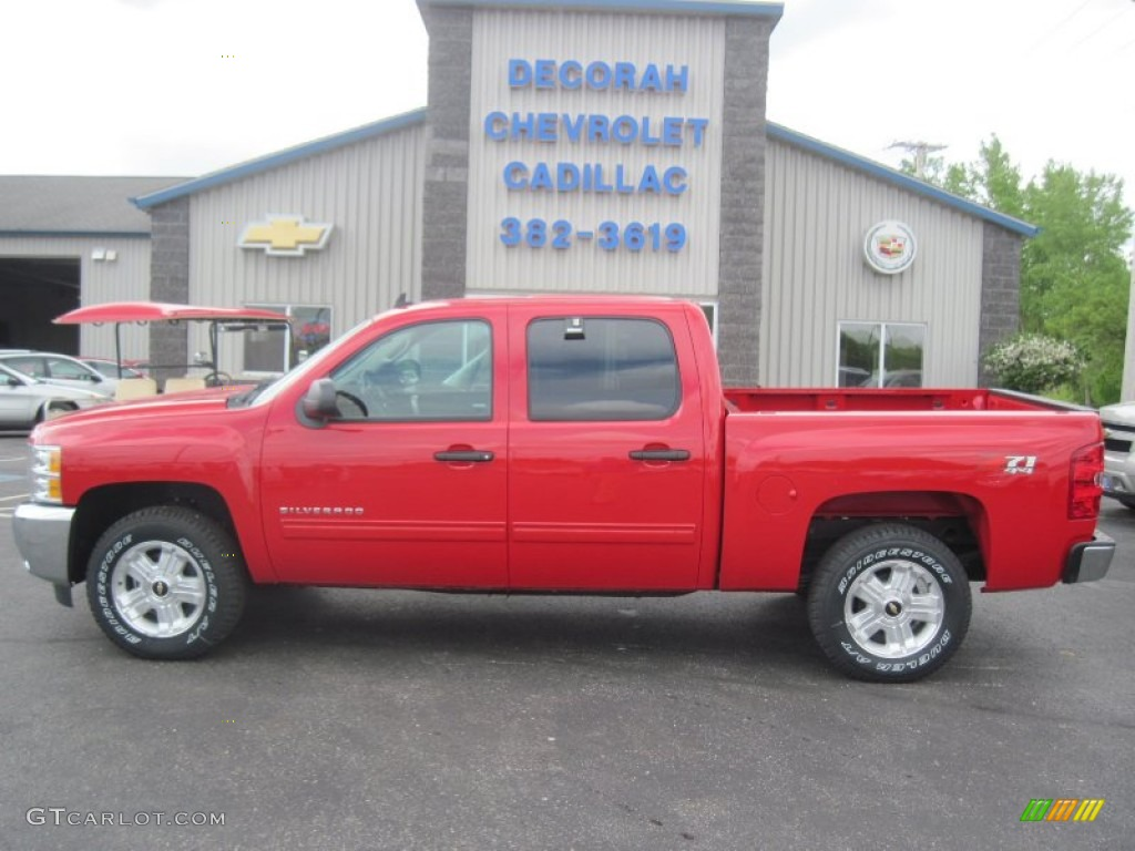 2013 Silverado 1500 LT Crew Cab 4x4 - Victory Red / Ebony photo #1