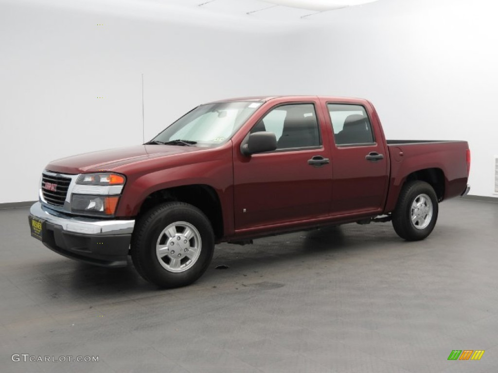 2007 sonoma red metallic gmc canyon sle crew cab 81349507. Black Bedroom Furniture Sets. Home Design Ideas