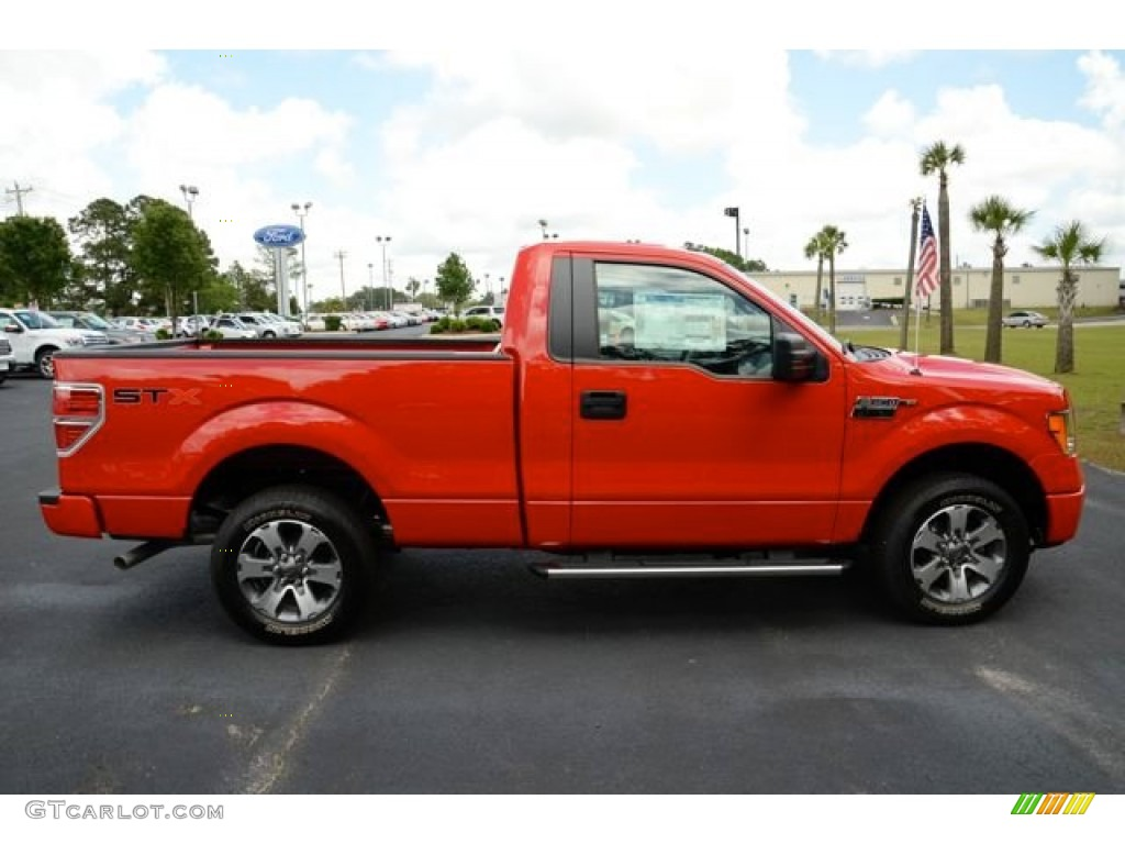 Vermillion Red 2013 Ford F150 STX Regular Cab Exterior ...