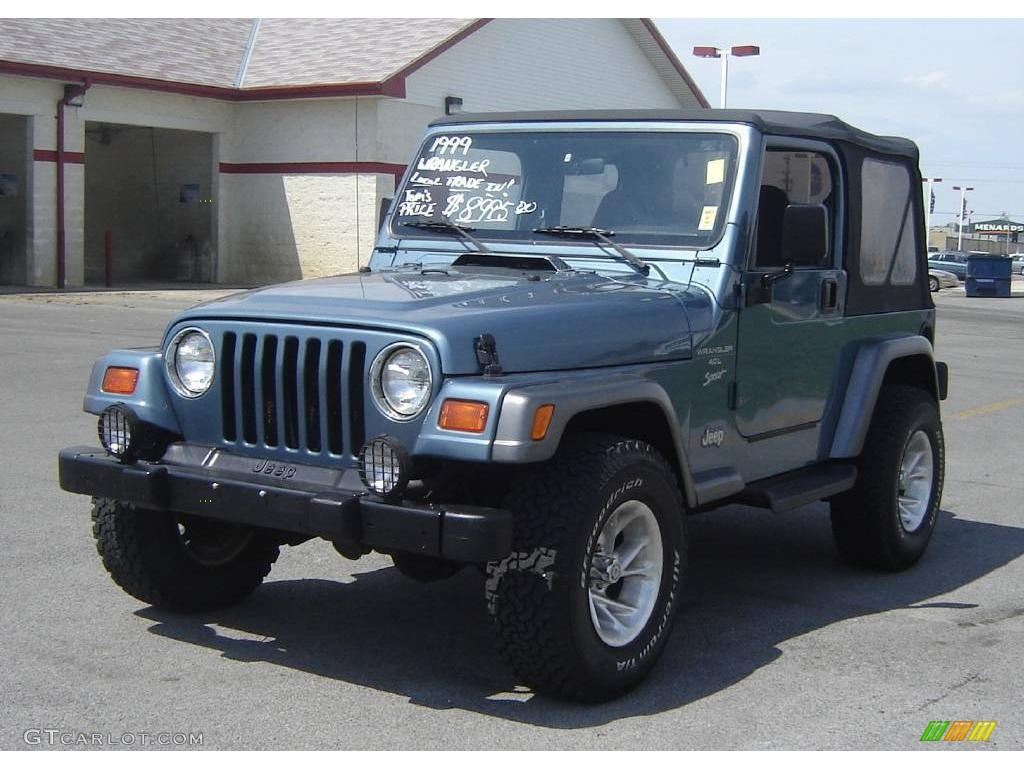 1999 Gunmetal Pearlcoat Jeep Wrangler Sport 4x4 #8113127 ...
