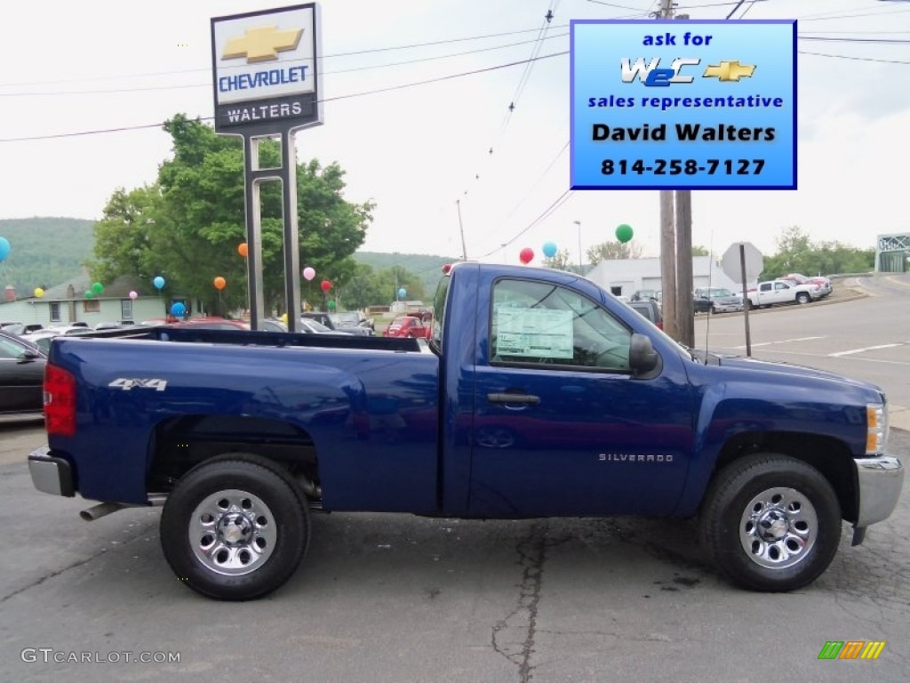 2013 Silverado 1500 Work Truck Regular Cab 4x4 - Blue Topaz Metallic / Dark Titanium photo #1