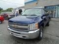2013 Blue Topaz Metallic Chevrolet Silverado 1500 Work Truck Regular Cab 4x4  photo #4