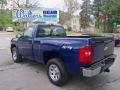 2013 Blue Topaz Metallic Chevrolet Silverado 1500 Work Truck Regular Cab 4x4  photo #8