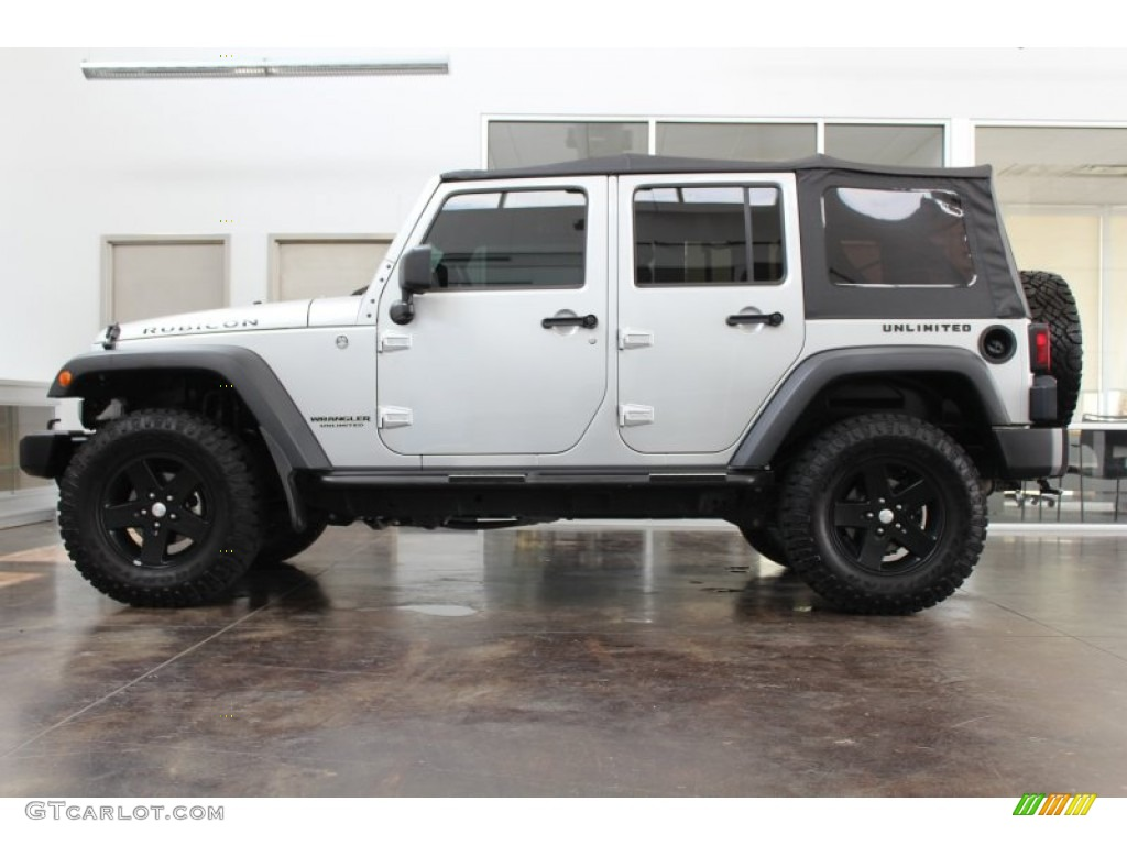 bright silver metallic 2011 jeep wrangler unlimited rubicon 4x4 exterior photo 81381714. Black Bedroom Furniture Sets. Home Design Ideas