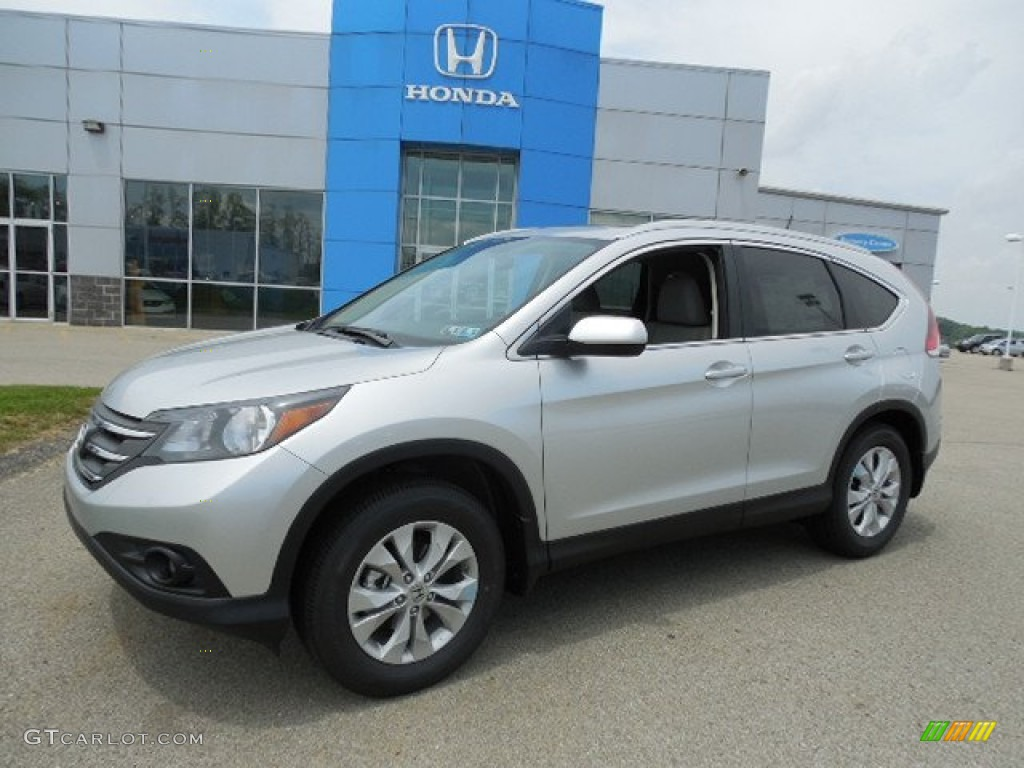 Alabaster Silver Metallic 2013 Honda Cr V Ex L Awd Exterior Photo 81400715