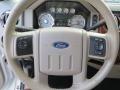 2010 Ford F250 Super Duty Cabela's Dark Rust/Medium Stone Interior Steering Wheel Photo
