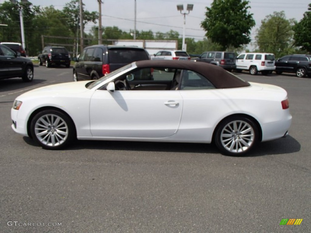 ibis white 2011 audi a5 2 0t quattro convertible exterior photo 81425298. Black Bedroom Furniture Sets. Home Design Ideas