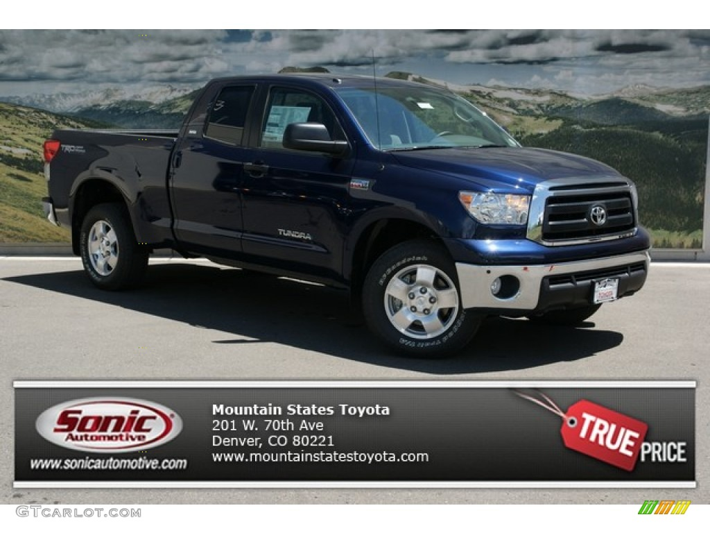 2013 Tundra SR5 TRD Double Cab 4x4 - Nautical Blue Metallic / Graphite photo #1