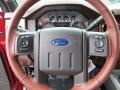 2013 Ford F250 Super Duty King Ranch Chaparral Leather/Black Trim Interior Steering Wheel Photo