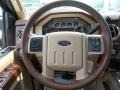 2013 Ford F250 Super Duty King Ranch Chaparral Leather/Adobe Trim Interior Steering Wheel Photo