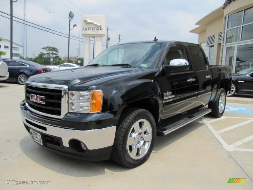 onyx black 2011 gmc sierra 1500 sle crew cab exterior photo 81442371. Black Bedroom Furniture Sets. Home Design Ideas